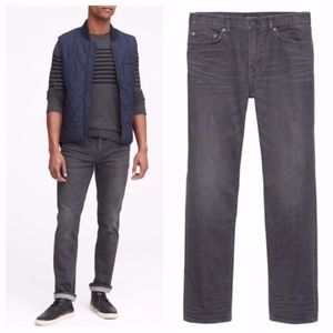 Banana Republic Slim RMD Gray Wash Jeans 33 x 32